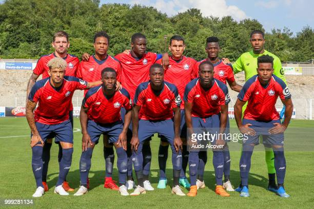 Xeka Loic Remy Bakary Adama Soumaoro Junior Alonso Mujica Edgar Miguel Ie and Mike Maignan Bottom line from left to right Kevin Malcuit Jonathan...