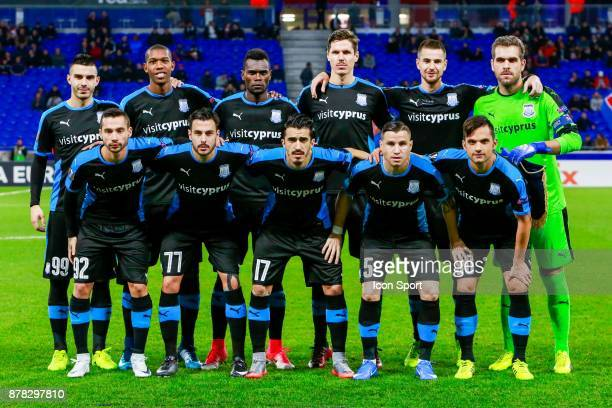 Team Limassol during europa league match between Olympique Lyonnais and Apollon Limassol at Parc Olympique on November 23 2017 in Lyon France