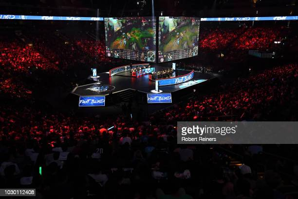 Team Liquid competes against Cloud9 during the 2018 North American League of Legends Championship Series Summer Finals at ORACLE Arena on September 9...