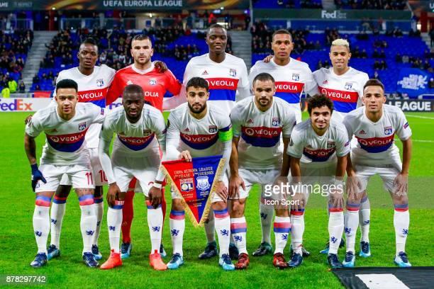 Team Lyon during europa league match between Olympique Lyonnais and Apollon Limassol at Parc Olympique on November 23 2017 in Lyon France