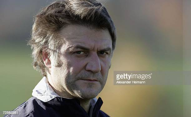 Team manager Dietmar Beiersdorfer looks on during the Hamburger SV training session at the sportsground of Usingen on November 16, 2006 in Bad...