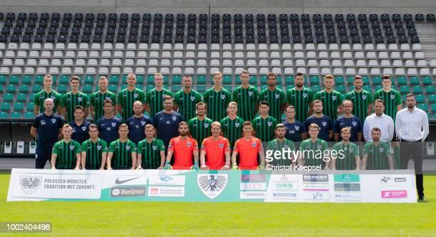 Team manager Harald Menzel poses during the Team Presentation of Preussen Muenster at Preussenstadion on July 20 2018 in Muenster Germany