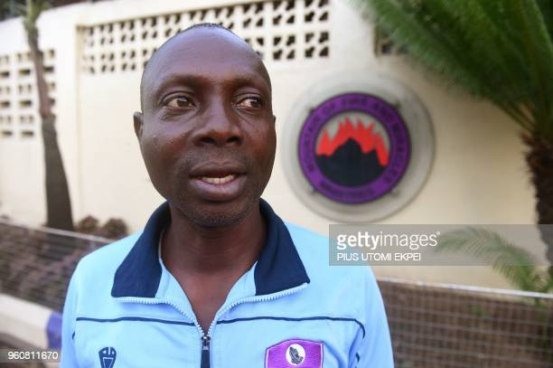 Team manager Mountain of Fire and Miracles Ministries football club Geoffrey Aghogi speaks at the international headquarters of the church in Yaba...