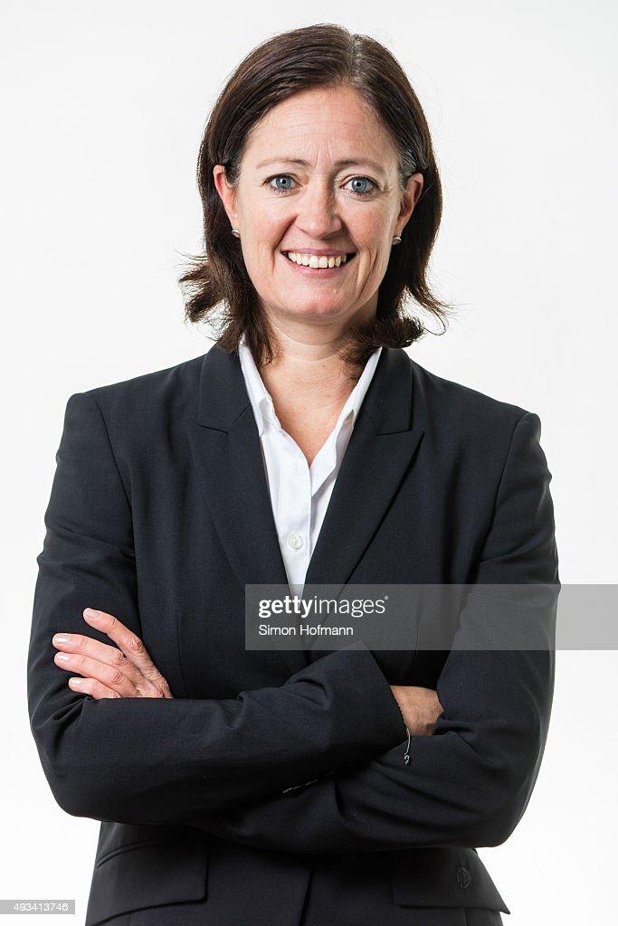 Team manager Renate Lingor poses during U20 Women's Germany Team Presentation on October 19, 2015 in Baunatal, Germany.