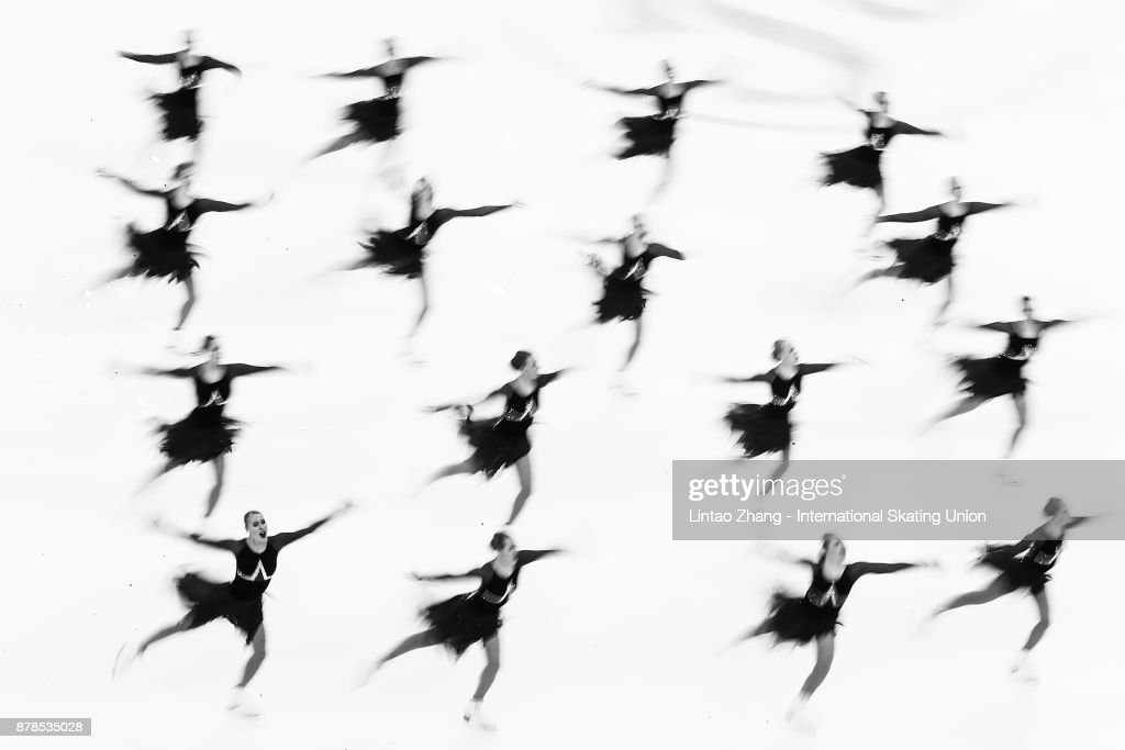 Team Marigold Iceunity of Finland performs during a Synchronized Skating short program duirng the 2017 Shanghai Trophy at the Oriental Sports Center on November 24, 2017 in Shanghai, China. (Photo by Lintao Zhang - ISU/ISU via Getty Image