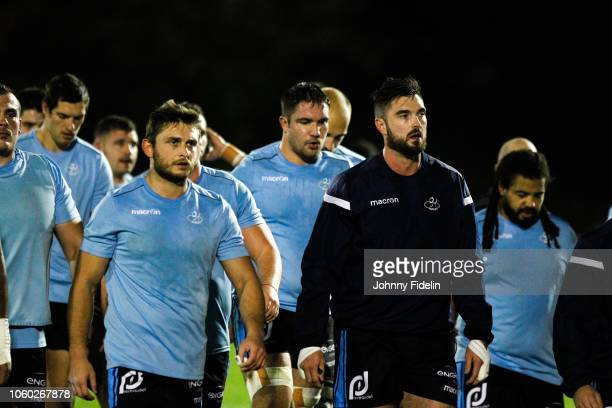 Team Massy before the Pro D2 match between Massy and Oyonnax on November 9 2018 in Massy France