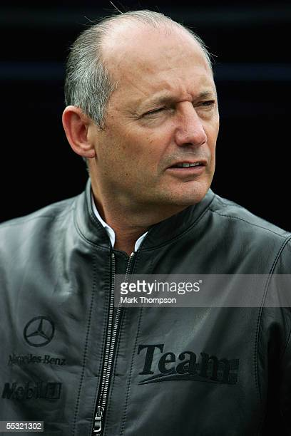 Team McLaren principal Ron Dennis during the practice session for the Belgian F1 Grand Prix at the Circuit of Spa Francorchamps on September 9 in Spa...