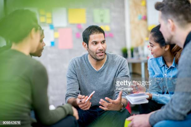 team meeting - casual clothing stock pictures, royalty-free photos & images