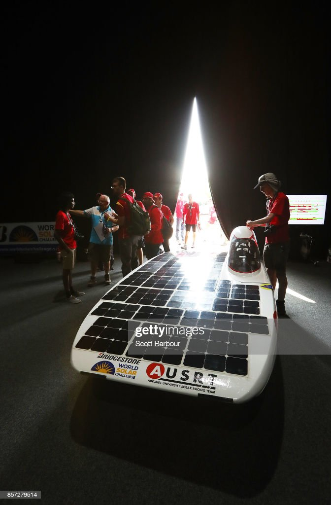 Team members look on as Lumen II, the car from Australia's Adelaide University Solar Racing Team is tested during Static Scrutineering before competing in the Challenger class ahead of the 2017 Bridgestone World Solar Challenge on October 4, 2017 in Darwin, Australia. Teams from across the globe are competing in the 2017 World Solar Challenge - a 3000 km solar-powered vehicle race through the Australian Outback between Darwin and Adelaide. The race attracts teams from around the world, most of which are fielded by universities or corporations although some are fielded by high schools. The race has a 30-year history spanning thirteen races, with the inaugural event taking place in 1987. The race begins on October 8th with the first car expected to cross the finish line on October 11th.