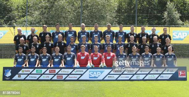 Team members of German first division Bundesliga football team TSG 1899 Hoffenheim Heinz Seyfert Christian Seyfert Timmo Hardung Robert Zulj Benjamin...