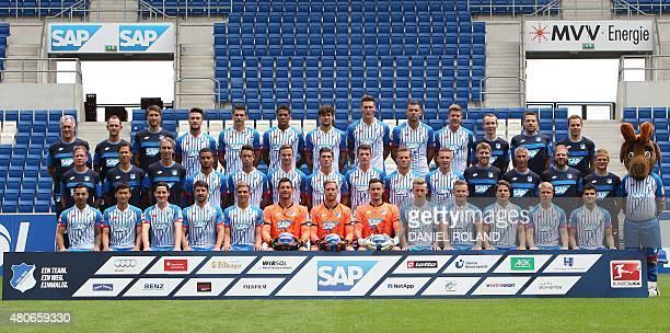 Team members of German first division Bundesliga team TSG 1899 Hoffenheim Heinz Seifert Christian Seifert Benjamin Glueck Ermin Bicakcic Fabian...