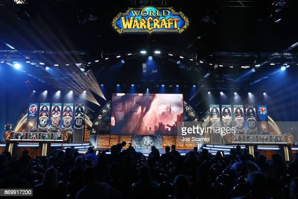 Team Method: Triforce competes with Team Grmbl at World of WarCraft at BlizzCon 2017 at Anaheim Convention Center on November 3, 2017 in Anaheim,...