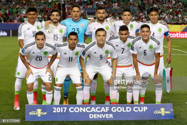 Team Mexico poses for a team photo before their match against Jamaica during the 2017 CONCACAF Gold Cup at Sports Authority Field at Mile High on...