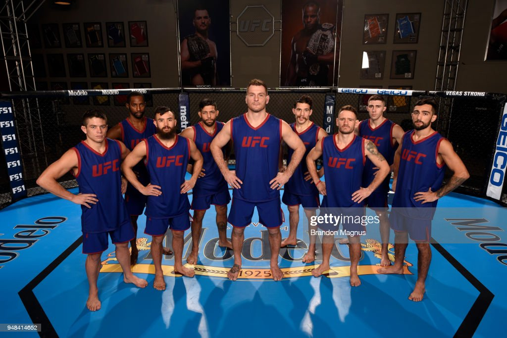 Team Miocic poses for a portrait during the filming of The Ultimate Fighter: Undefeated at the UFC TUF Gym on February 1, 2017 in Las Vegas, Nevada.