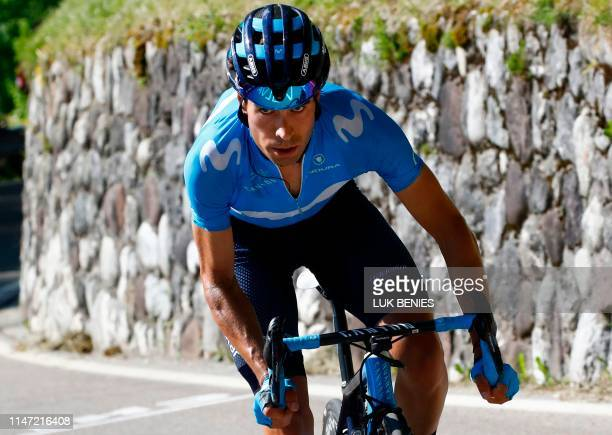 Team Movistar rider Spain's Mikel Landa rides during stage twenty of the 102nd Giro d'Italia Tour of Italy cycle race 194kms from Feltre to Croce...
