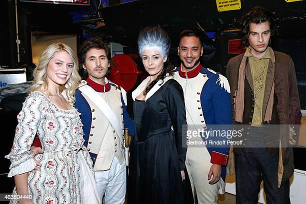 Team Musical Comedy Marie Antoinette et le Chevalier de Maison Rouge Aurore Delplace Mickael Miro Kareen Antonn Slimane and Valentin Marceau attend...