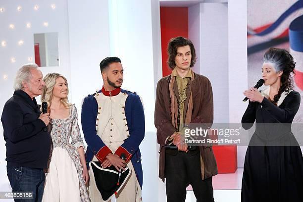 Team Musical Comedy Marie Antoinette et le Chevalier de Maison Rouge Autor Didier Barbelivien Aurore Delplace Slimane Valentin Marceau and Kareen...