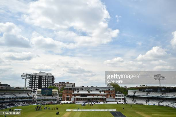 Team Nepal and India North play in the Street Child Cricket World Cup Final at Lords Cricket Ground in London on May 7, 2019. - Bangladeshi...