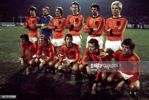 Team Netherlands during a presentation of team qualifying for the World Cup 1978 in Argentina on 28th December 1977