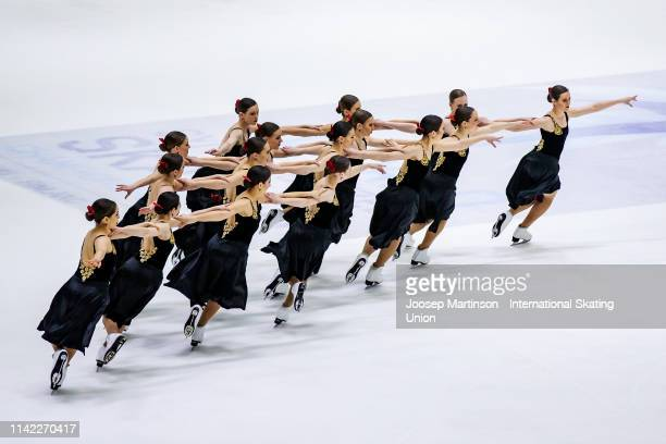 Team Nexxice of Canada perform in the Short Program during day one of the ISU World Synchronized Skating Championships at Helsinki Arena on April 12,...