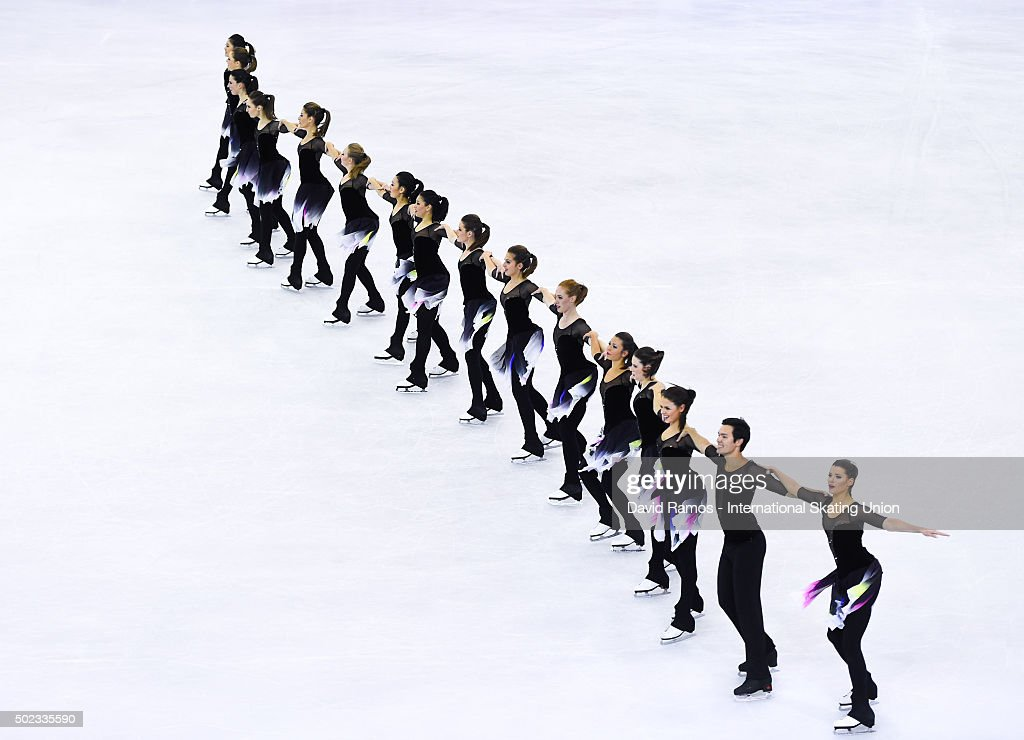 Team Nexxice of Canada performs during the Synchronized Skating Free program during day three of the ISU Grand Prix of Figure Skating Final 2015/2016 at the Barcelona International Convention Centre on December 12, 2015 in Barcelona, Spain.