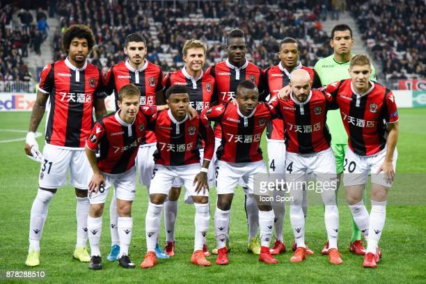 Team Nice during europa league match between OGC Nice and Zulte Waregem at Allianz Riviera Stadium on November 23 2017 in Nice France