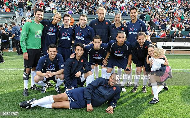 Team 'Nomar' plays in the 3rd Annual Mia Hamm Nomar Garciaparra Celebrity Soccer Challenge at The Home Depot Center on January 16 2010 in Carson...