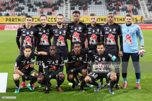 Team of AC Ajaccio during the Ligue 2 match between AS Nancy and AC Ajaccio on November 17 2017 in Nancy France
