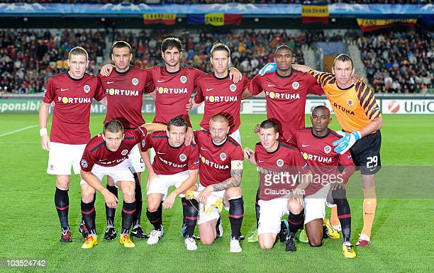 Team of AC Sparta Prague during the Champions League Playoff match between Sparta Prague and Zilina at Generali Arena on August 17 2010 in Prague...