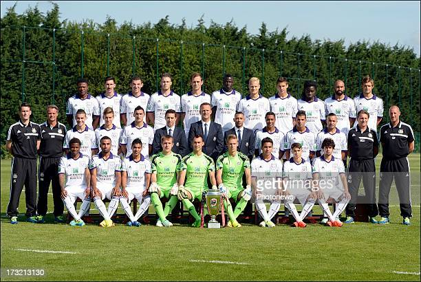 team of Anderlecht First line L to R Zoro Cyriac Gohi Bi of RSC Anderlecht and Samuel Armenteros of RSC Anderlecht and Ronald Vargas of RSC...