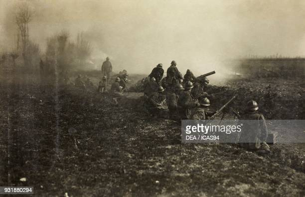A team of Arditi equipped with machine gun near Zenson of Piave World War I Italy 20th century