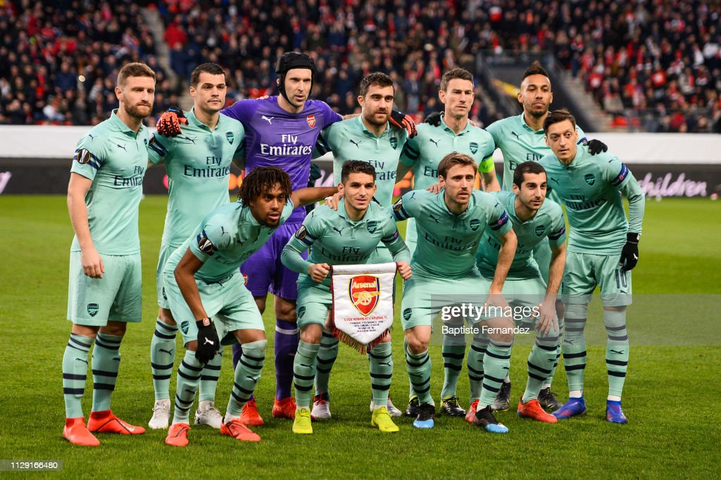 Team Of Arsenal During The Uefa Europa League 2018 19 Round Of 16 News Photo Getty Images