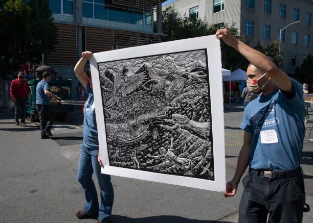 CA: San Francisco Annual Roadworks Steamroller Printing Festival