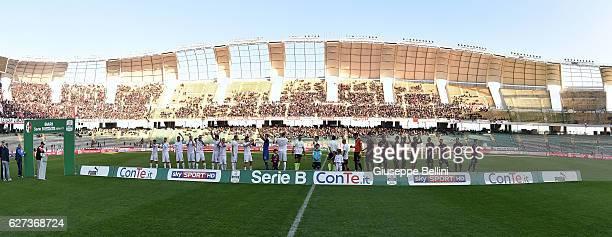 Team of AS Bari and Team of US Salernitana FC prior the Serie B match between AS Bari and US Salernitana FC at Stadio San Nicola on December 3 2016...