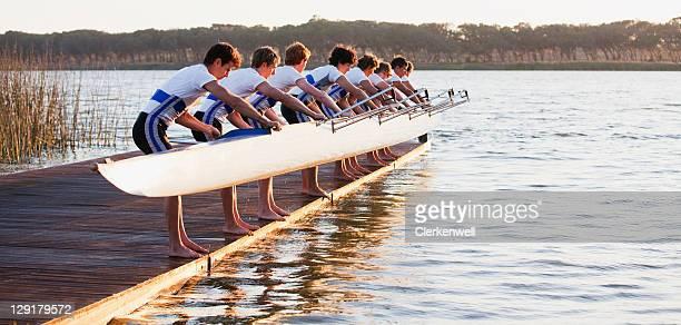 Equipo de atletismo canoa retención