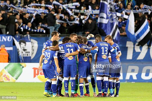 Team of Bastia during the Ligue 1 match between SC Bastia and Angers SCO at Stade Armand Cesari on October 15 2016 in Bastia France