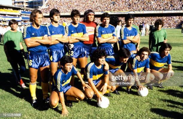 Team of Boca Juniors during the Primera Division match between Boca Juniors and Instituto Atletico Central Cordoba played at Buenos Aires, Argentina...