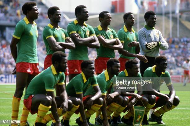 Team of Cameroun during the world cup match between Cameroon and Poland on 19th June 1982