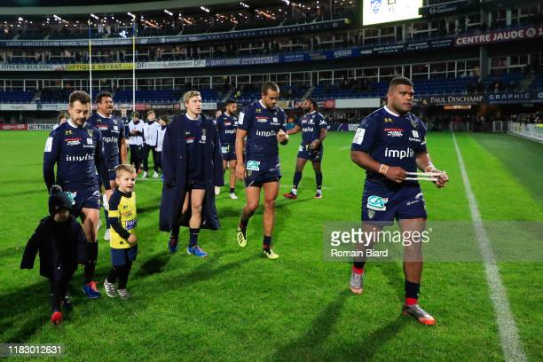 Team of Clermont during the European Rugby Champions Cup Pool 3 match between ASM Clermont Auvergne and Harlequin FC on November 16 2019 in...