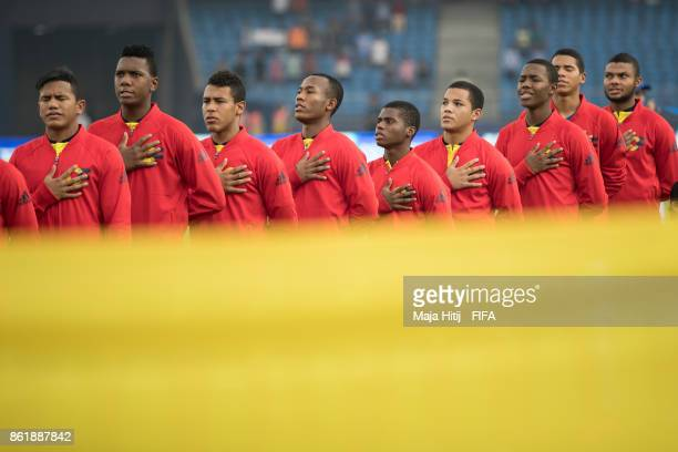 Team of Colombia prior the FIFA U17 World Cup India 2017 Round of 16 match between Columbia and Germany at Jawaharlal Nehru Stadium on October 16...