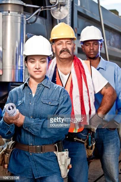 Team von Bauarbeitern