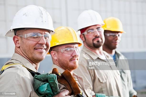 Equipe de trabalhadores de Construção