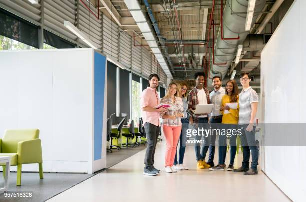 Team of designers working at a creative office
