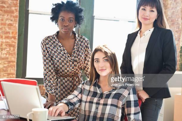 Team of diverse businesswomen in office