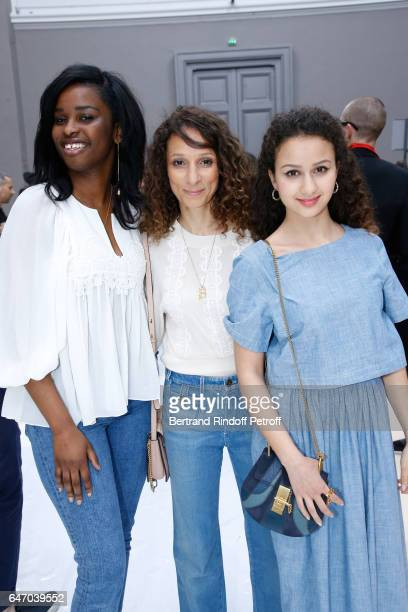 Team of Divines Jisca Kalvanda Houda Benyamina Oulaya Amamra attend the Chloe show as part of the Paris Fashion Week Womenswear Fall/Winter 2017/2018...