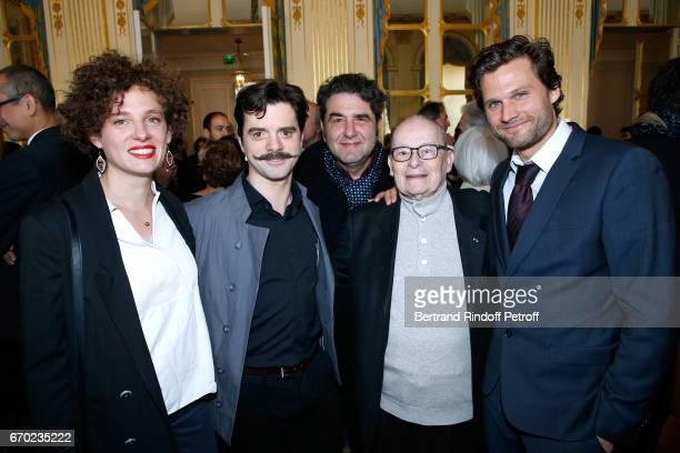 "Team of Edmond, Costume Designer Marion Rebmann, Nominated for ""Moliere de la Revelation Masculine"" for ""Edmond"", Guillaume Sentou, Nominated for..."