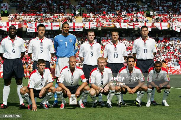Team of England during the European Championship match between England and Switzerland at Estadio Cidade de Coimbra, Coimbra, Portugal on 17 June 2004