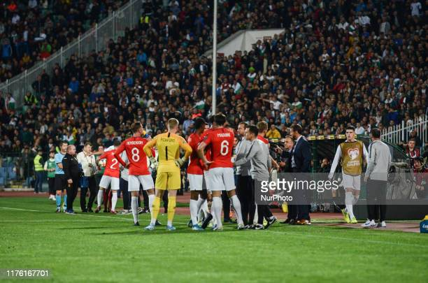 Team of England, during the UEFA EURO 2020 Qualifications Bulgaria v England at Vasil Levski National Stadium, Sofia, Bulgaria on October 14, 2019