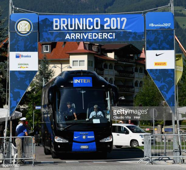 Team of FC Internazionale Milano arrive at Training Camp on July 6 2017 in Reischach near Bruneck Italy