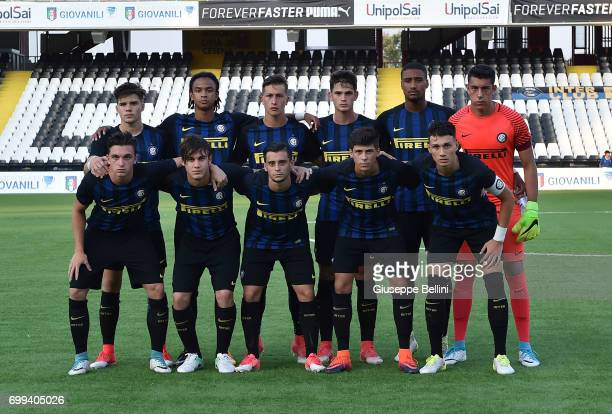Team of FC Internazionale prior to the U17 Serie A Final match between Atalanta BC and FC Internazionale on June 21 2017 in Cesena Italy